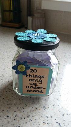 DIY Jar Gift For Best Friend Sister Partner Personalised Thoughtful
