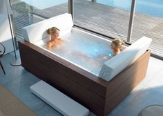 Indoor whirlpool 2 personen  new design whirlpool bathtub with big waterfall for 2 person ...