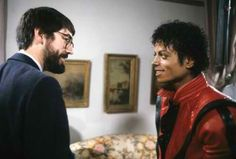 Michael Jackson & director John Landis on the set of Thriller - 1983 :) | Curiosities and Facts about Michael Jackson ღ by ⊰@carlamartinsmj⊱