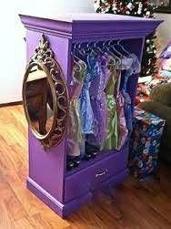 Dress Up Closet!  FYI, Link doesn't lead to any tutorials. I'm just pinning for inspiration, should I come across an old chest/dresser.