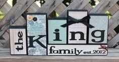 Personalized Family Wooden Block SetsHome by littlebluebirdcreate, $4.00 per a block