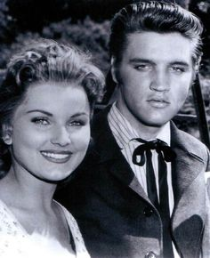 "On the set of ""Love Me Tender"" in 1956 where 21 year old Elvis fell in love with Debra Paget."