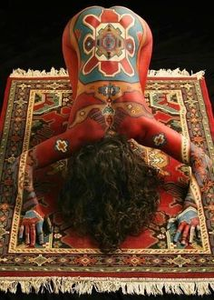 Hatha yoga body paint cool!