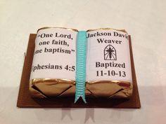 Baptism Favor Chocolate Bible