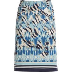 NIC+ZOE Paradise Print Pencil Skirt found on Polyvore