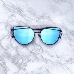 UV 400 Metal Frames Polycarbonate Mirror Lens Blue mirrored lenses