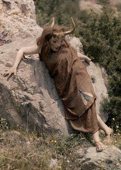 Io transformed into a heifer- Aeschylus' Prometheus Bound -1930 Delphic Festival- photo by Maynard Owen Williams