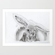 Tea any one? Art Print by Art By Warren  Graphite pencil used.