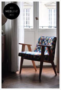 vintage armchair, pixel, polish design, 366, chierowski