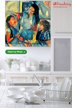 Drawberry lets you find a talented artist to turn your photo to painting and order artwork for home or office use. Get canvas art for less. Diy Wood Projects, Easy Projects, Projects For Kids, Paint My Photo, Family Painting, Artwork For Home, Stylish Home Decor, Cherished Memories, Gold Art