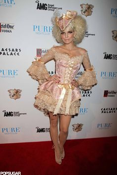Sexy Celebrity Halloween Costumes | Pictures | POPSUGAR  Celebrity AnnaLynne McCord dressed as Marie Antoinette while hosting a 2011 Halloween party in Las Vegas