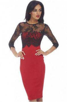 Edinburgh piros - női ruha mydress 6990.-