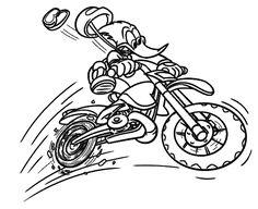 Resultado de imagem para moto de motocross para colorir