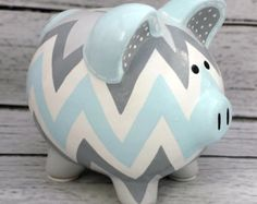 Argyle diseño artesanal mano pintado cerámica por Alphadorable