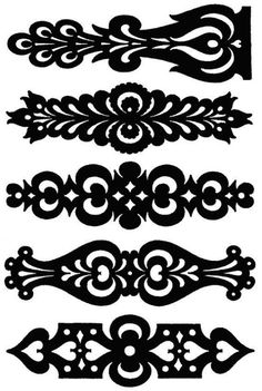 Hungarian Banners Larger Size Clear Stamp for Cricut. Stencil Patterns, Stencil Designs, Stencils, Diy And Crafts, Paper Crafts, Scroll Saw Patterns, Cross Patterns, Silhouette Projects, Leather Jewelry