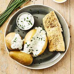 Merlan grillé à la moutarde, pommes de terre grenaille au four - illico Fresco