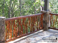 Garrell Associates, Inc.Mountain Top Lodge House Plan # 09110 - Rear Deck Railing, Design by Michael W. Garrell