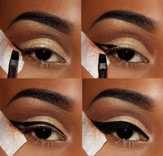 makeup black – Hair and beauty tips, tricks and tutorials Simple Eye Makeup, Cute Makeup, Gorgeous Makeup, Basic Makeup, Black Girl Makeup, Girls Makeup, Eyebrow Makeup, Eyeshadow Makeup, Makeup Goals