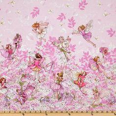 Designerstoffe USA - Michael Miller - Petal Flower Fairies - Blumenfeen - ein…