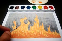 How to Paint Fire: 8 steps - wikiHow