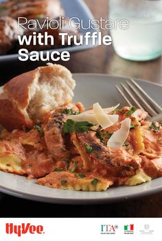 Italian meets vegetarian with Chef Edi's Ravioli Gustare with Truffle Sauce recipe. Truffle Pasta, Truffle Sauce, Chef Recipes, Seafood Recipes, Baking Recipes, Weeknight Meals, Easy Meals, Freezer Meals, Italian Dishes