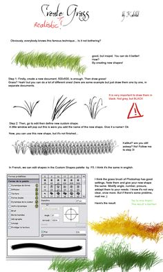 Tutorial - Grass by *Katikut on deviantART