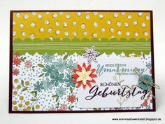 """Bunte #Geburtstagskarte mit der """"#Wildblumenwiese""""   http://eris-kreativwerkstatt.blogspot.de/2016/02/bunte-geburtstagskarte-mit-der.html  #stampinup #teamstampingart #geburtstag #karte"""