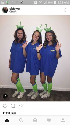 disney halloween costumes - 10 Easy Halloween Costumes For Girls You Probably Haven't Thought Of Yet - Trio Costumes, Cute Group Halloween Costumes, Friend Costumes, Cute Costumes, Halloween Outfits, Women Halloween, Costume Ideas, Zombie Costumes, Halloween Couples