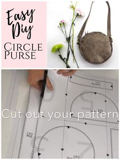 How to sew a crossbody, circle purse with this simple, beginner sewing pattern. This easy design is great for day to day. When you are done, you'll know how to sew in a zipper, add exterior pockets, and how to make purse straps! Click through for the full tutorial, written instructions, and step by step video.