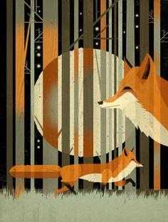 ~Midnight Foxes van Dieter Braun~