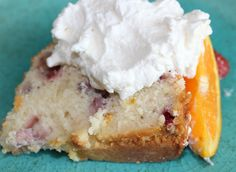 Strawberry-Orange Yogurt Cake w/ Honey Whipped Cream