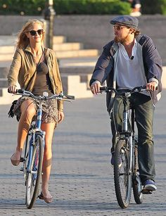 "Erin Heatherton and Leonardo DiCaprio cycling in New York (gf super model ""with curves"" looking great in daily life)"