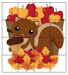 Print this cute squirrel puzzle for kids to put together.