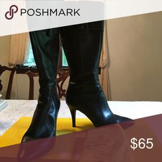 Circa Leather knee high boots, extremely soft! In immaculate condition, real leather and leather sole. Worn once only. They come with a dust bag too! Joan & David Shoes Heeled Boots