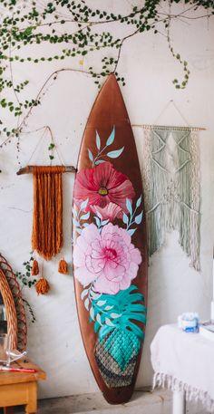 Surfboard Painting, Surfboard Art, Surfboard Drawing, Surf Decor, Custom Surfboards, Surf House, Surf Design, Summer Backgrounds, Surf Art
