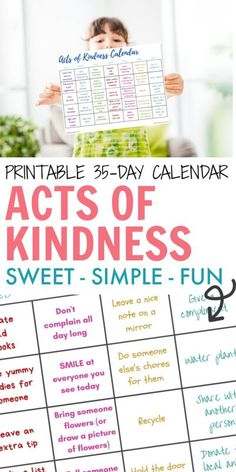 35 Thoughtful Random Acts of Kindness Calendar. 35 Simple tasks that only take a few minutes, don't cost a thing & can instantly turn someone's day around.#actsofkindness #actsofkindnesscalendar #randomactsofkindness #actsofkindnessadventcalendar #randomactsofkindnesscalendar #kidsactsofkindness #monthlyactsofkindnesscalendar #monthlongactsofkindness Emotions Activities, Activities For Kids, Happy Mom, Happy Kids, Gentle Parenting, Parenting Advice, Advice For New Moms, Positive Discipline, Kids Behavior