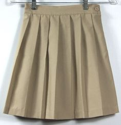 77e317ed0 Girls Basic Image Official School Uniform Khaki Pleated Skirt Size 7  #BasicImage #Skirt Girls