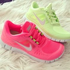 I already have Hot pink nike sneakers but mint green would be so cute too.