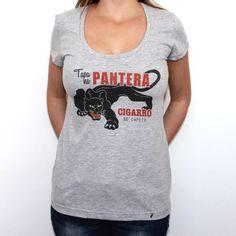 Tapa na Pantera - Camiseta Clássica Cinza Mescla
