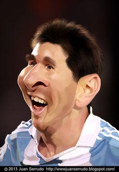 Caricatura de Lionel Messi.