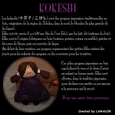 La première kokeshi selon Au Gré Du Coton