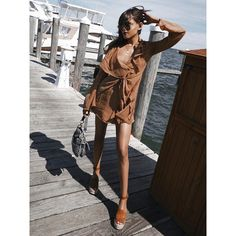 Sittin' on the dock of the bay [Shoe: Adalyn] // Cool Outfits, Summer Outfits, Summer Dresses, Street Style Summer, Romper Pants, Blouse Outfit, Buy Dress, Tank Top Shirt, Jacket Dress