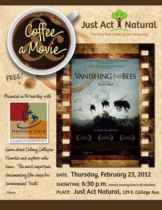 Coffee and a movie at Just Act Natural.