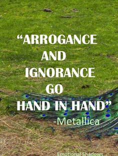 why ignorance and arrogance go hand in hand 62 top arrogance quotes and sayings arrogance and ignorance go hand in hand i slid my hands under his back and kissed his dampened lips.