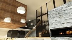 HAVGAPET Restaurant & Conference center. Interior design. ArchiCAD rendering.