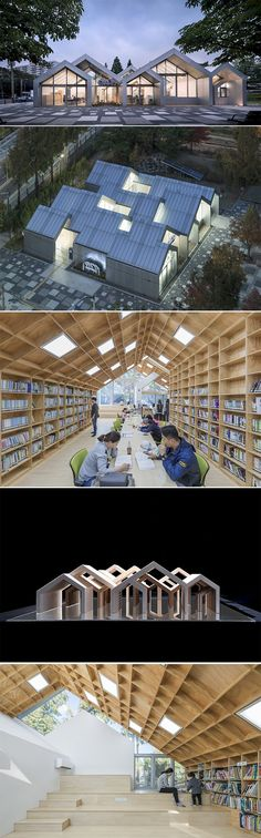 Designed by UnSangDong Architects, Hannae Forest of Wisdom is not a cultural space generated by a big public development project.