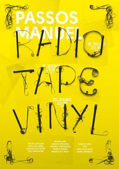 Poster for Radio, Tape, Vinyl by Shutupandance, via Behance