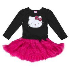 Hello Kitty™ Infant Toddler Girls' Tutu Dress - Black/Pink