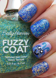 Adventures In Acetone: Sally Hansen Fuzzy Coat Monster!