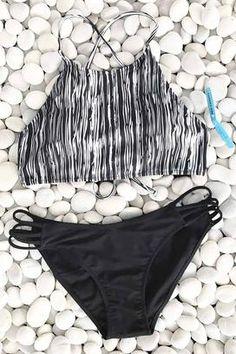 Cupshe Dark Dense Forest Bikini Set